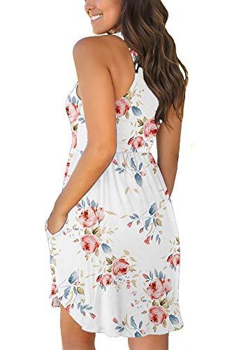 LONGYUAN Casual Sundress with Pockets