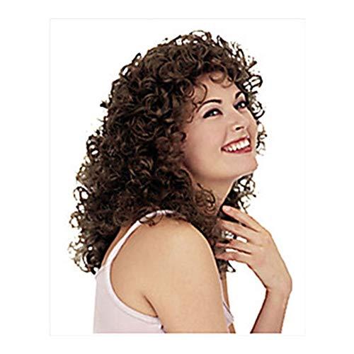 DANJIA Perruque de cheveux longs bouclés style européen