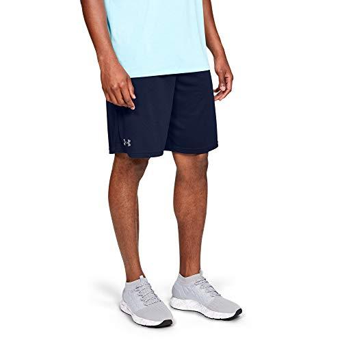 Under Armour UA Tech Mesh, atmungsaktive Sweatshorts mit Seitentaschen, komfortable kurze Hose mit loser Passform Herren, Academy / Steel , L