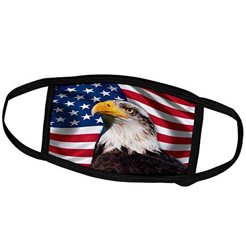 Promini Monatsmaske - Carsten Reisinger Illustrationen - Amerikanische Flagge USA Bald Adler Patriotismus Patriotic Stars Stripes - Staubmaske Outdoor Schutzmaske
