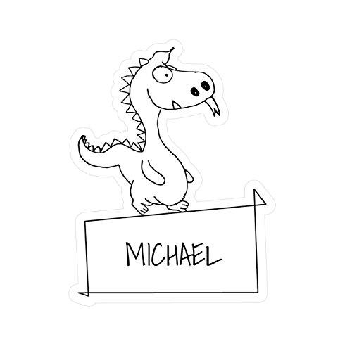 JOllipets baby kindersticker - Michael - variant: Dieren dierentuin - 10cm - Design: draak