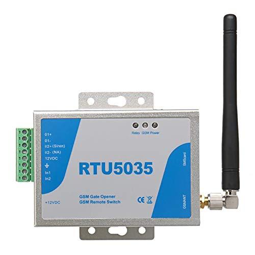 gsm Abridor de Puerta a Distancia Soporta Llamadas Gratis SMS Comandos, Interruptor Remoto SM, abrepuertas con Control gsm Dial (RTU5035)
