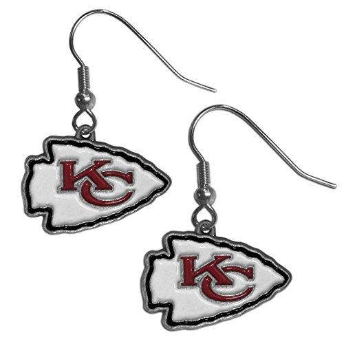 NFL Siskiyou Sports Womens Kansas City Chiefs Dangle Earrings One Size Team Color