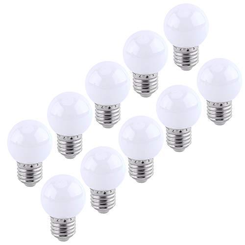 E27 milchig-weißes Golflicht LED kleine Edison-Schraubenfarbenlampe 2W, Energiesparlampe 20W Glühlampenäquivalent, geeignet für Terrassenparty-Atmosphäre-Birne AC220-240V, 10 Packungen