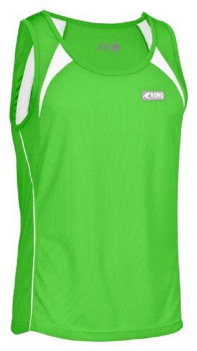 Rono Classic Singlet T-Shirt pour Homme XL Vert/Blanc