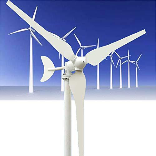BJZP Windkraftanlage 100W 12V Windturbine Generator Weiß 3 Blätter Windkraftanlage (Windgenerator 12V Wohnmobil)