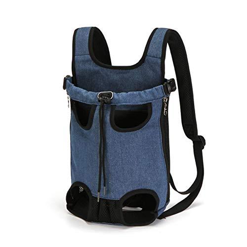 HUI JIN Mochilas transportadoras para perros medianos y grandes con piernas y bolsa ajustable S hasta 25 kg, color vaquero