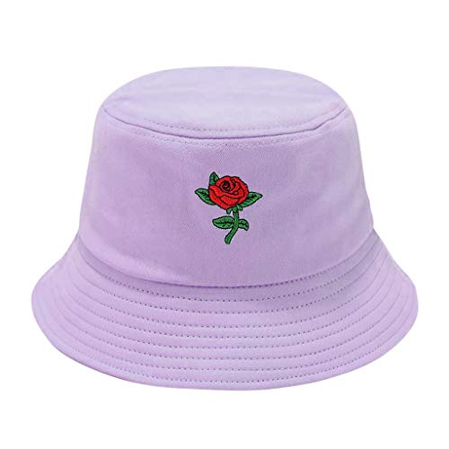 riou Sombrero de Pescador Unisex Protector Solar Gorra de Flores Rosa Bucket Hat Al Aire Libre Visera para Senderismo Camping y Playa