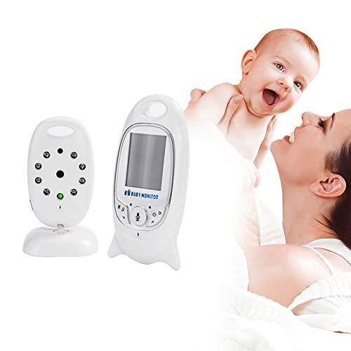 HKD Vigilabebé Inalambrico con Cámara 2 Pulgadas HD Visión Nocturna Comunicación Bidireccional Monitor de Bebé