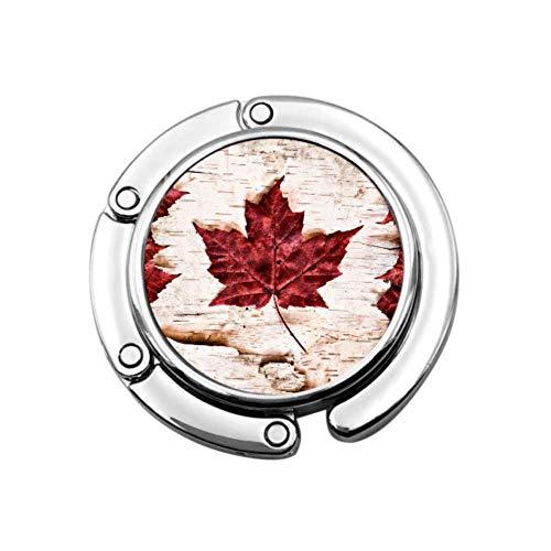 Imagen Bandera Canadá Construido Completamente Fuera Soporte para Bolso portátil Percha para monederos Mesa Diseños únicos Sección Plegable Almacenamiento Percha para niños