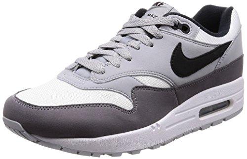 Nike AIR Max 1, Baskets Homme, Gris (Blanc/Gris Loup/Fumée De Pistolet/Noir 101), 39 EU