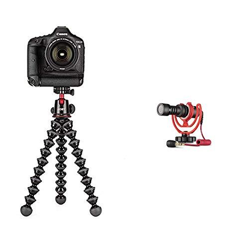 JOBY JB01508 BWW GorillaPod 5K Kit Flexibles Profi Stativ mit Kugelkopf fur DSLR CSC und spiegellose Kameras Traglast bis zu 5kg Rode VideoMicro kompakt On Camera Microphone
