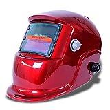Máscara de soldadura casco de soldadura automática de la energía solar (Solar Energy Uso for Recambio) Facial Protección Accesorios Rojo (Color : Red)