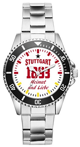 Stuttgart Geschenk Artikel Idee Fan Uhr 6045