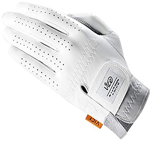 Vice Golf Men's Pure Left Hand Gloves, White, Large (VICE Pure Large)