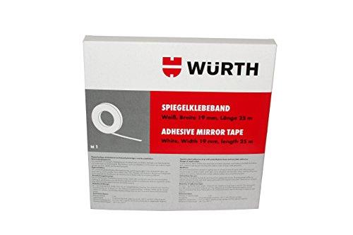 Würth 8949180 NASTRO Specchio Bianco larghezza 19 mm e lunghezza 25 m, Grau
