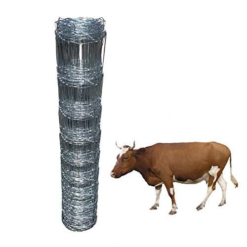 Rollo de malla de alambre ligera L8 de 50 m de alambre soldado galvanizado en caliente para animales, ovejas, caballos, cerdos, perros, soportes de plantas de jardín, granja, valla, valla, valla, etc.