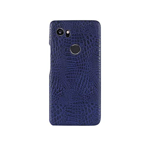 Best Shopper - Google Pixel 2 Crocodile Grain Hard PC+PU Leather Surface Back Cover Case - Blue