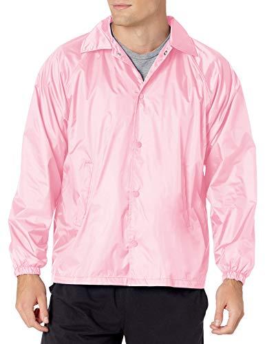 Augusta Sportswear Men's Nylon Coach's Jacket/Lined, Light Pink, Small
