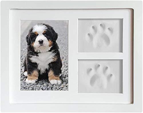 Perro con estampado de pata 3D, marco de madera, molde de yeso 3D - grandes regalos, decoración de pared