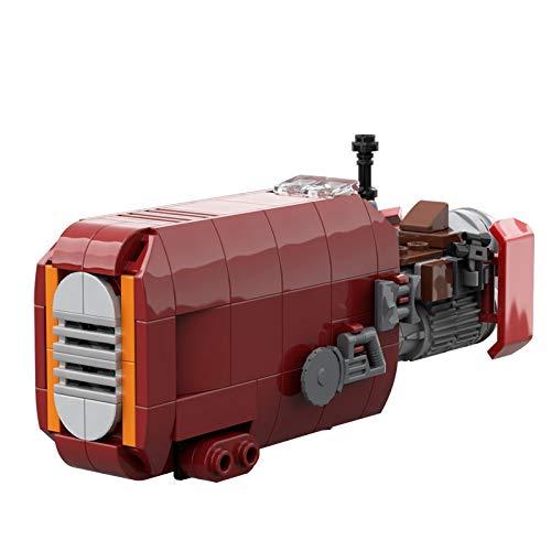 Star Movie Awakens Force Moc-56363 Rey's Speeder Mini modelo de motocicleta antigravedad bloques de construcción de juguetes para niños