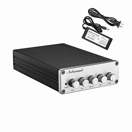Nobsound HiFi TPA3116D2 2.1 Channel Digital Audio Power Amplifier Stereo Amp 2×50W+100W Subwoofer Treble Bass Independent Adjustment (with power supply)