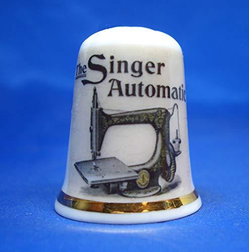 Birchcroft China Thimble - Zanger Automatische Naaimachine - Gratis Doos