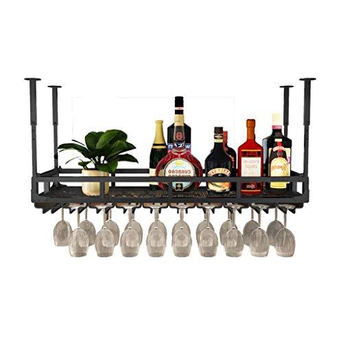 Weinregale, Weinregal Hang Weinglas Cup-Rack Kopf gestellt Hang Weinlese-Wein-Flaschen-Halter Einstellbare Höhe Super-tragende Vintage Style Dekoration Anwendung Ständer, 60cm (23.6in), 60 cm (23 WTZ0