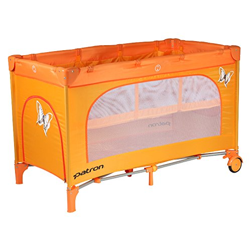 Patron BDP101007AA834P Reisebett Skippy Plus, schmetterling orange
