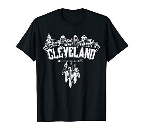 Cleveland Shirt Cleveland Skyline Native American Feather