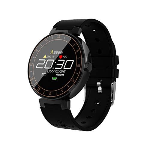 UKCOCO L8 Reloj Inteligente Presión Arterial de Oxígeno Monitor de Ritmo Cardíaco Gimnasio Rastreador de Sueño Smartwatch IP68 Impermeable para Mujeres Hombres Niños (Negro)