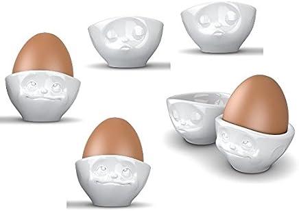 Preisvergleich für Fiftyeight 6er Eierbecher Set je 3x KÜSSEND & VERTRÄUMT / weiß