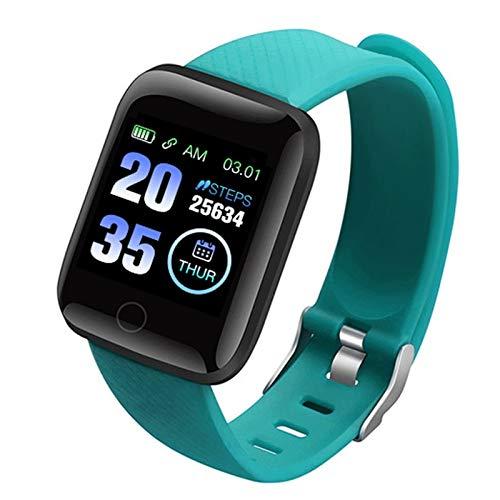 CXSD Reloj inteligente para hombre, monitor deportivo, podómetro, pulsera de alta resolución (color: verde)