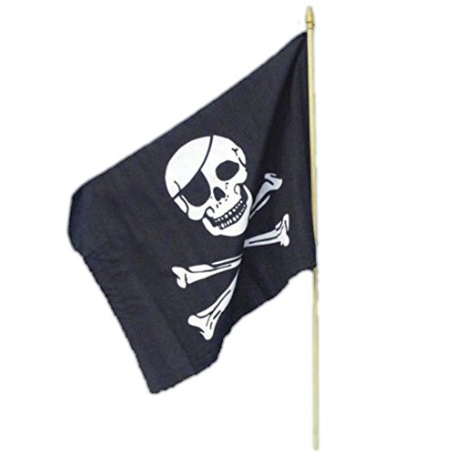 Smiffys Drapeau de pirate, 45x30cm / 18inx12in