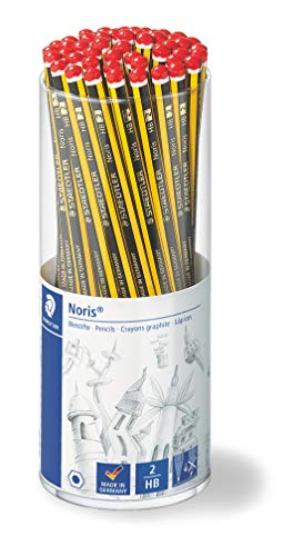 STAEDTLER Bleistifte Noris HB, sechskant, Köcherpackung mit 50 unglaublich bruchfesten Bleistiften, hohe Qualität Made in Germany, 120 KP50