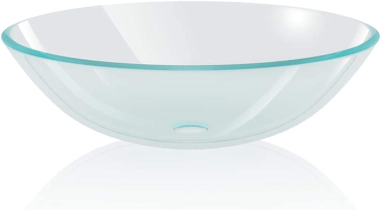 Washbasin Tempered Glass 42 cm Transparent Wash Basin