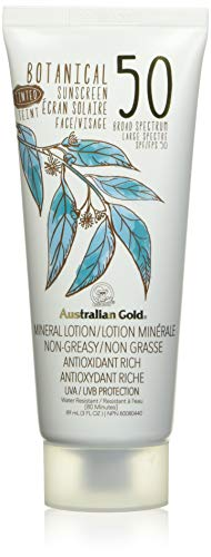 Australian Gold Botanical Mineral Sunscreen SPF 50 Tinted Face, Fragrance Free