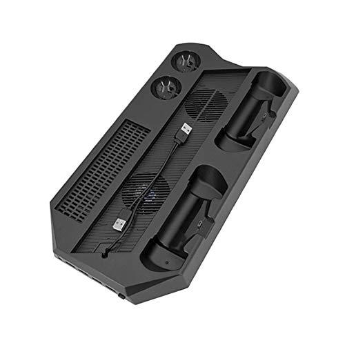 Gaoominy Consola Vertical Multifuncional Soporte de RefrigeracióN PS4 Pro / PS4 PS Move Controlador EstacióN de Carga Soporte de Vitrina Controlador Soporte de RefrigeracióN EstacióN