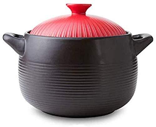 ZouYongKang Pote de Cocina clásica de Cristal-cerámica con Asas y Tapa de Cristal, Redondo (4.2L, 5.6L, 7L, 9L) (Size : 9L)