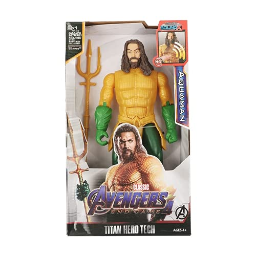 Figuras de acción de superhéroes, Hulk, Iron Man, Thor, Los Vengadores de Marvel, 12/30cm, Modelo de Figura de acción, Juguetes para niños, (Aquaman with Box)
