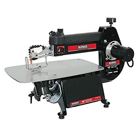 King Industrial 16-inch Scroll Saw with Foot Switch