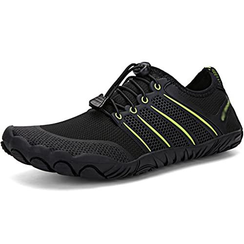 Zapatos Anti-Corte Río Río Arriba para Hombre En Verano, Botas De Pesca Al Aire Libre Transpirables, Calzado De Vadeo Anfibio Ligero Y De Secado Rápido (Color : Black, Size : US-7.5(Women))