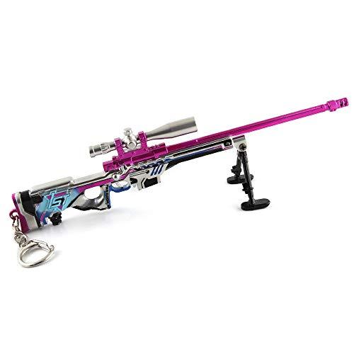 BYWL 1 6 metal AUG francotirador rifle pistola aleación arma acción figura arte llavero regalo modelo juguete prop decoración colgante