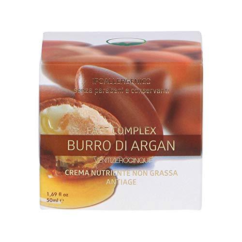 Crema Antiedad con Mantequilla De Argán Ventizerocinque, Crema Nutritiva No Grasa - 50ml