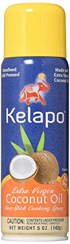 Kelapo Extra Virgin Coconut Oil, Cooking Spray, 5-Ounce Can