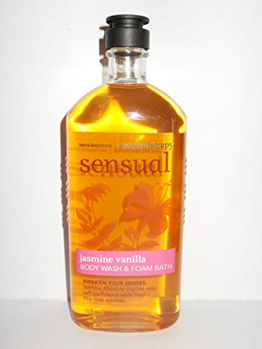 Bath & Body Works Aromatherapy Sensual Jasmine Vanilla Body Wash 10 Oz.