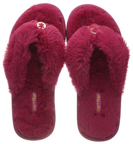 flip*flop Damen Originals Fur Hausschuhe, Berry pink, 39 EU