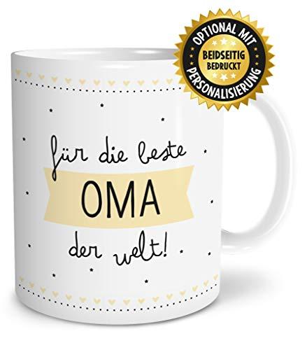OWLBOOK Beste Oma große Kaffee-Tasse mit Spruch im Geschenkkarton geliefert schöne Geschenkidee Geschenke für Deine Großmutter