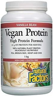 Natural Factors Vegan Protein Vanilla Bean, 1 Kg