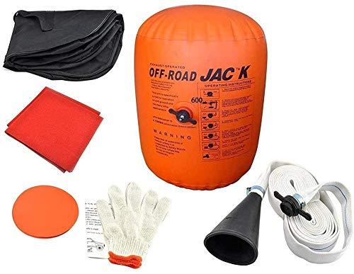 Kacsoo - Cric gonfiabile da 4 tonnellate, con pompa ad aria, con...